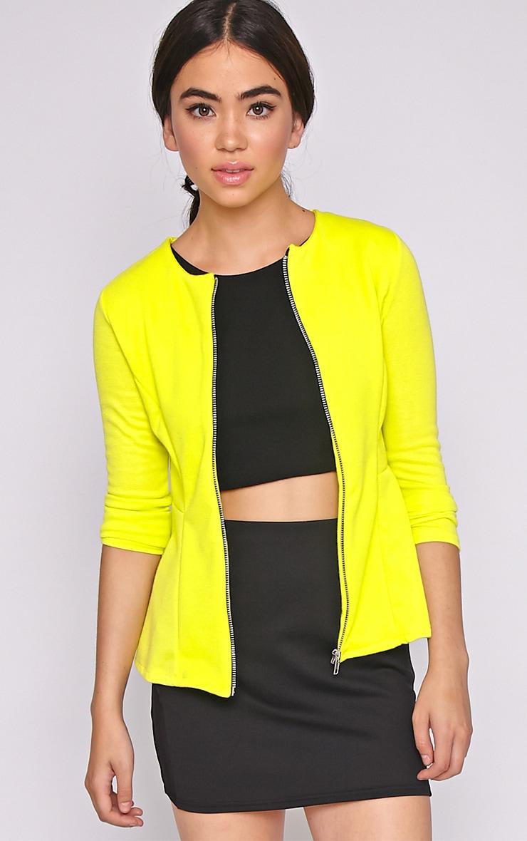 Marcela Lime Peplum Blazer  1