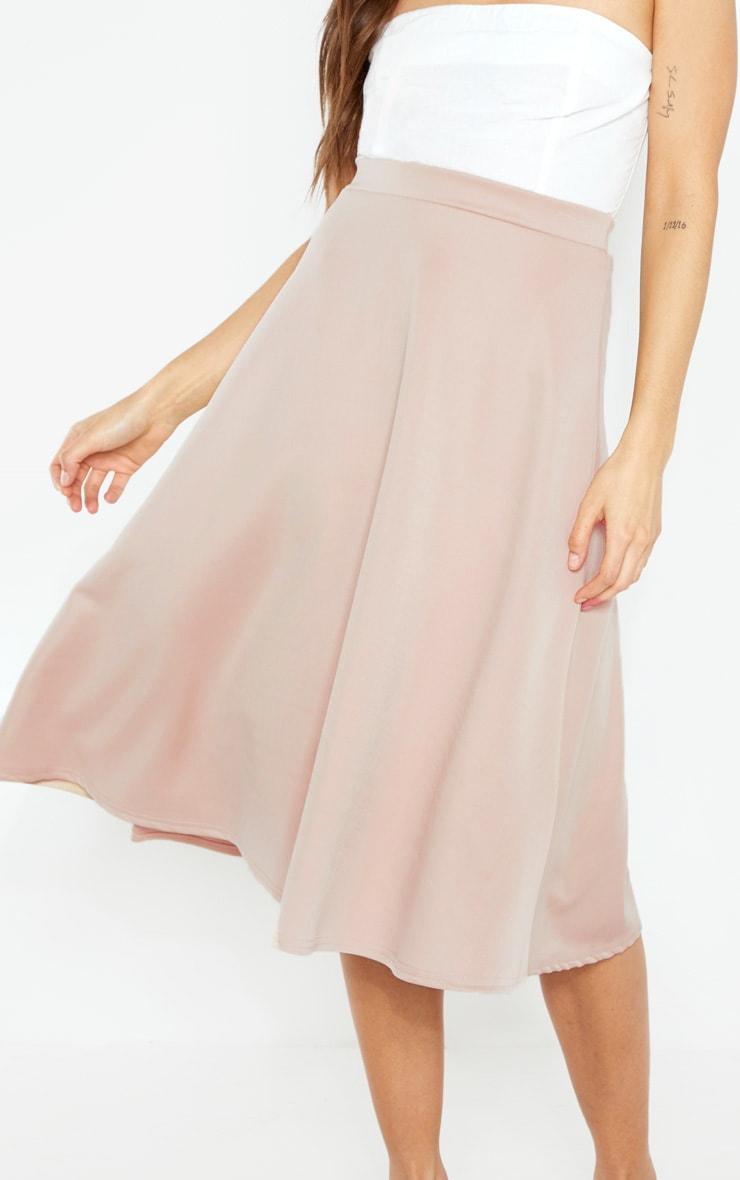 Stone Scuba Flippy A Line Midi Skirt  5