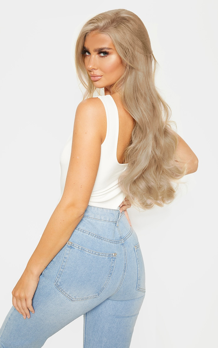 LullaBellz 22 5 Piece Blow Dry Clip In Hair Extensions California Blonde 4