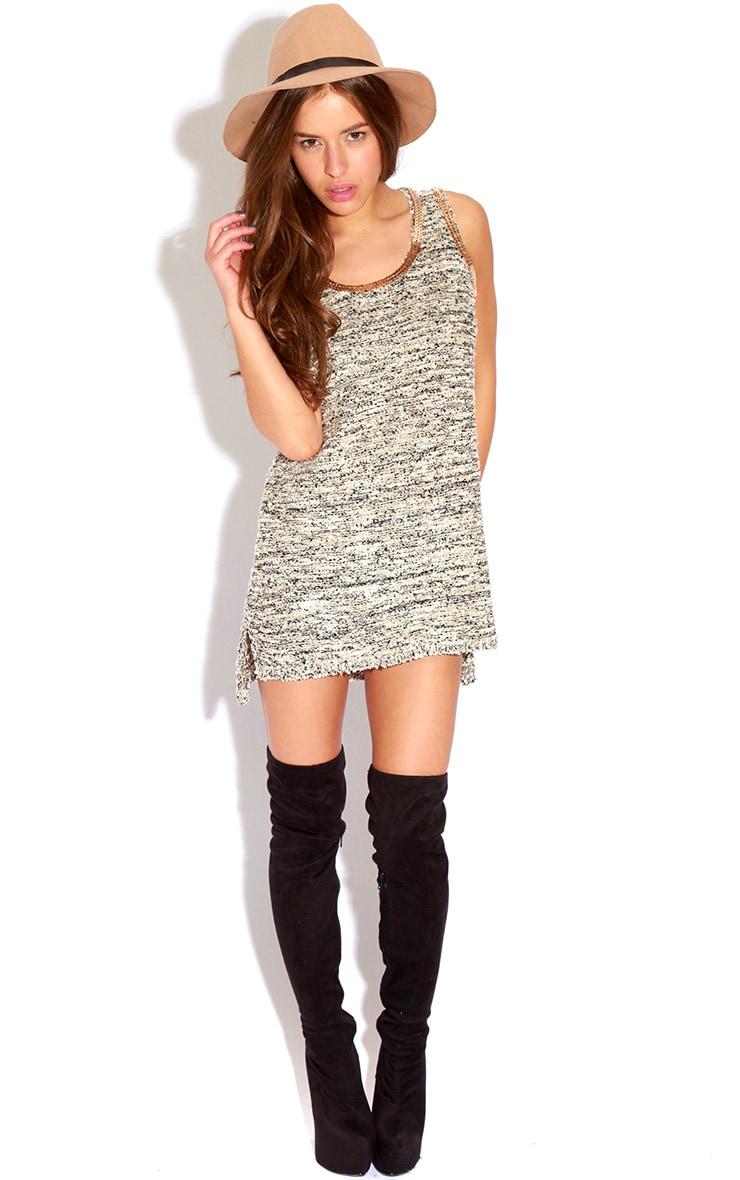 Helen Beige Knitted Textured Vest 3