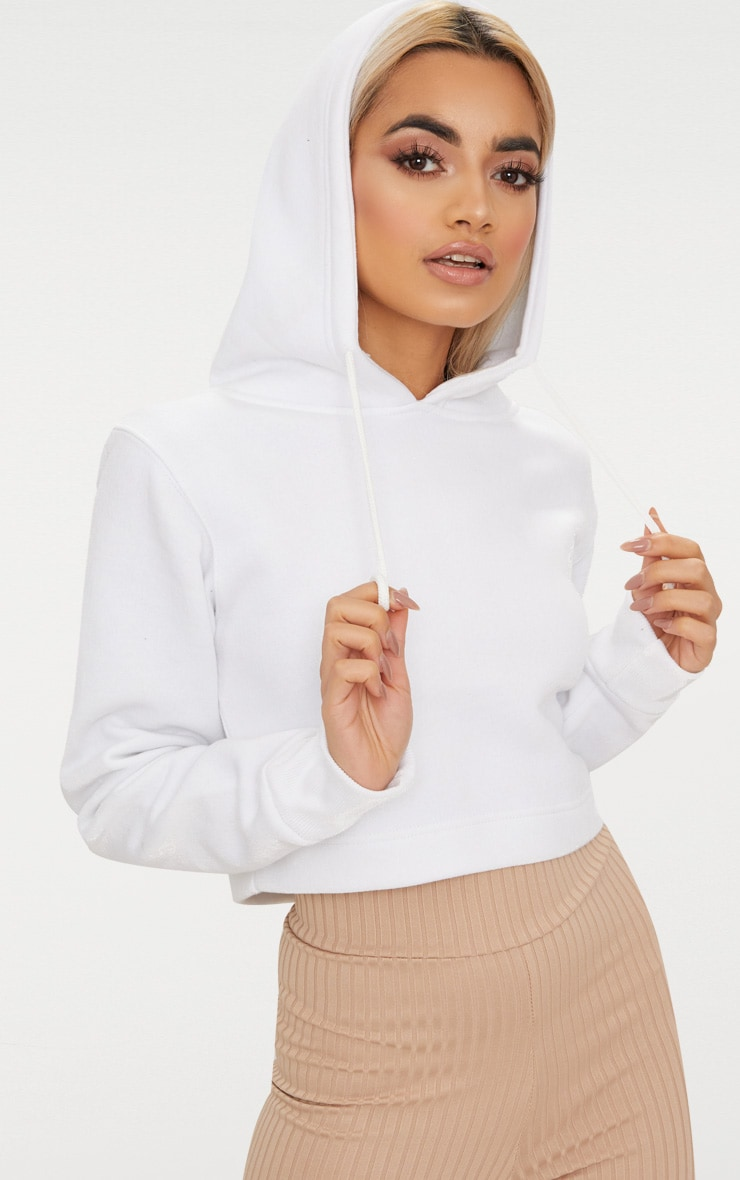 Hoodie en polaire blanche 1