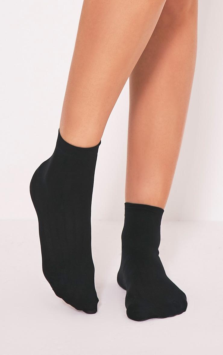 Kahlina Black Mesh Ankle Socks 2