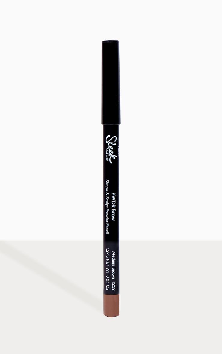 Sleek MakeUP PWDR Brow Pencil Medium Brown 1