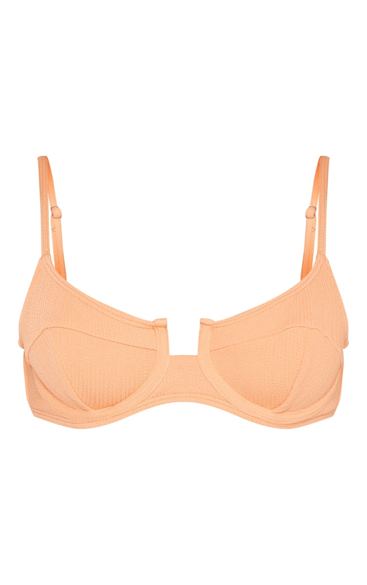 Peach Underwired Crinkle Bikini Top 3