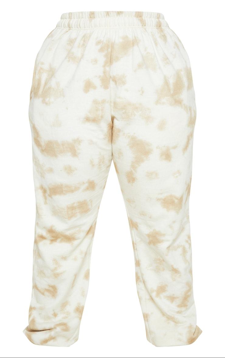 Plus Cream Tie Dye Jogger 5