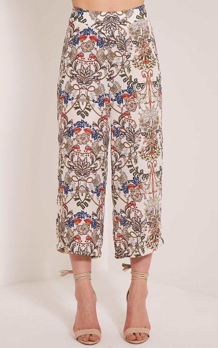 Sarah Beige Floral Culottes 2