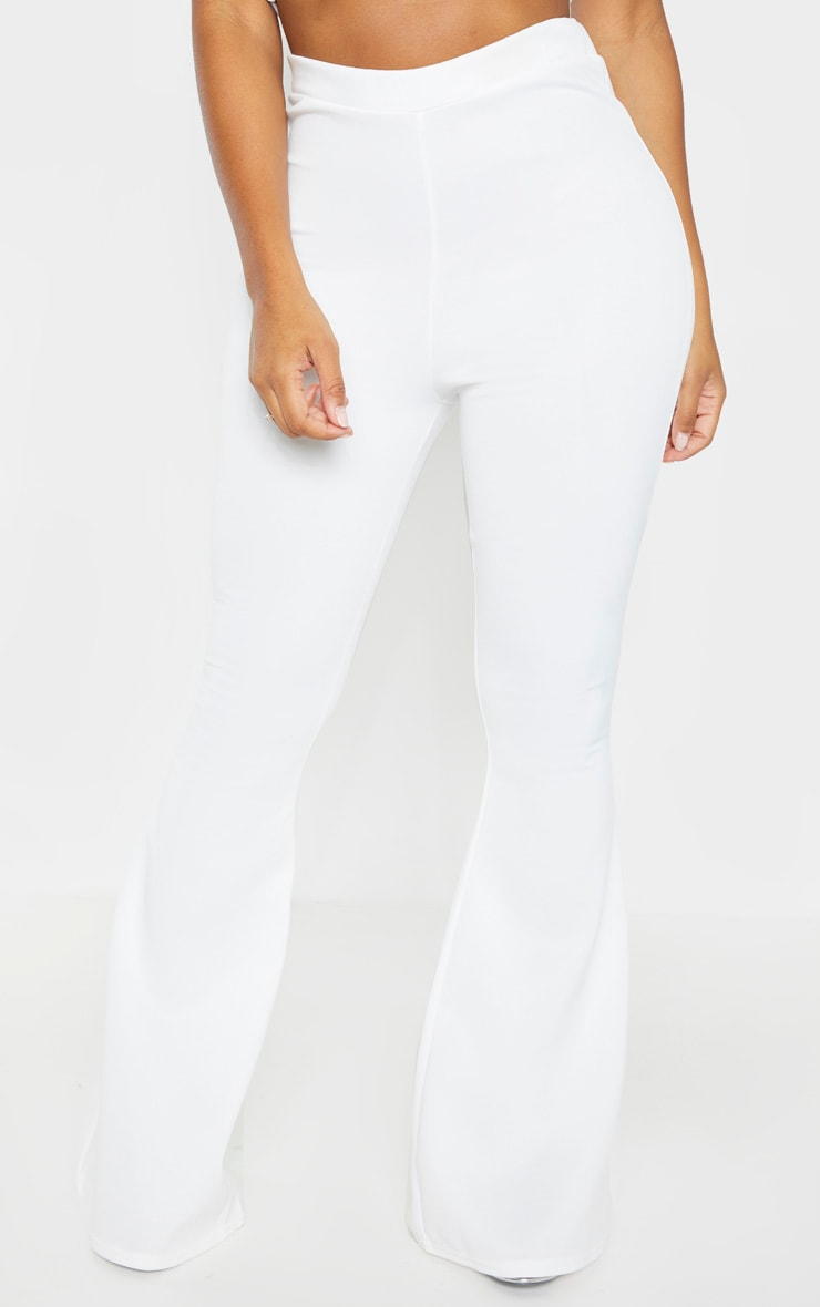 Shape White High Waisted Flared Trouser 2
