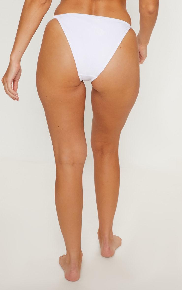 White Diamante Strap Bikini Bottom 4