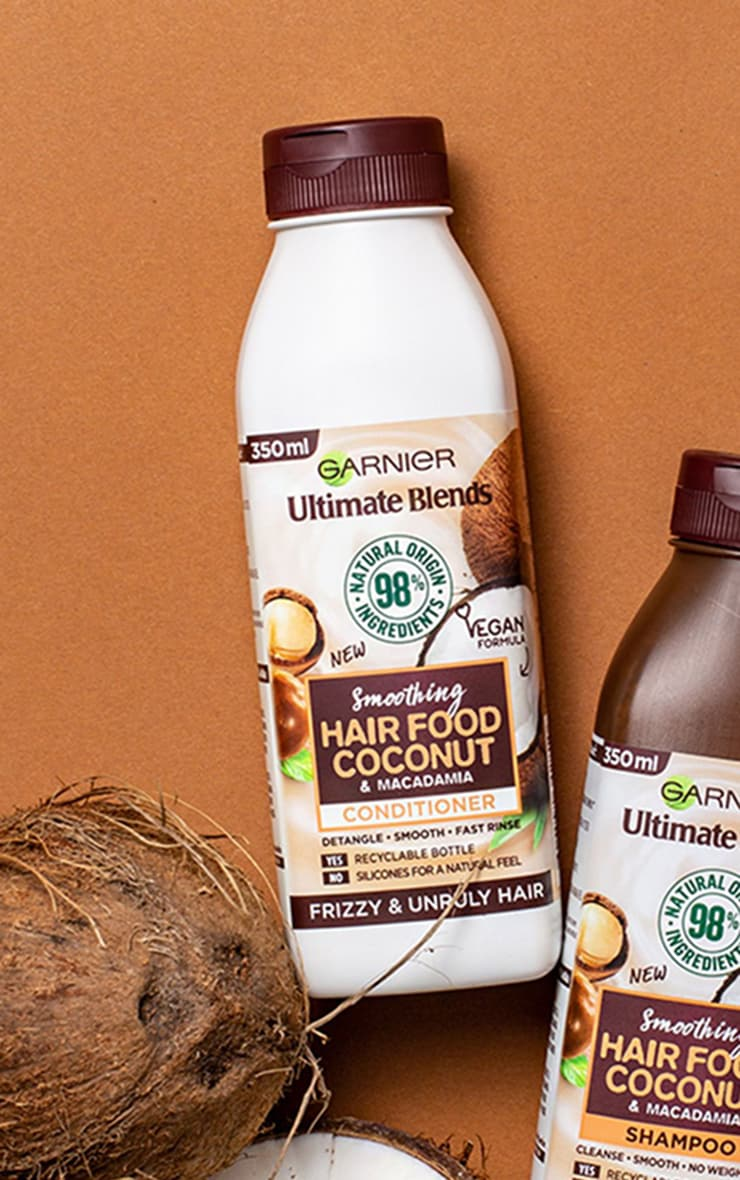 Garnier Ultimate Blends Smoothing Hair Food Coconut Conditioner For Frizzy Hair 350ml 1