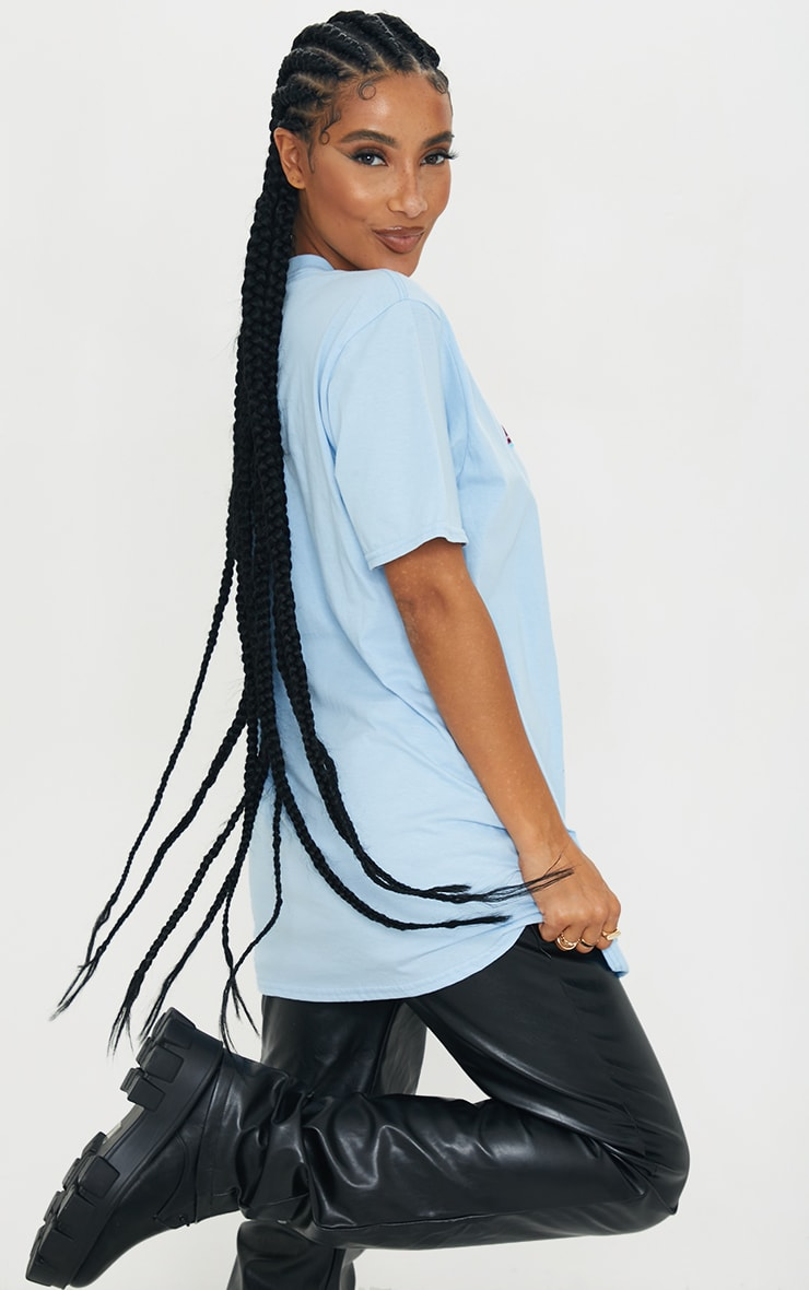 Baby Blue Santa Monica Printed T Shirt 2