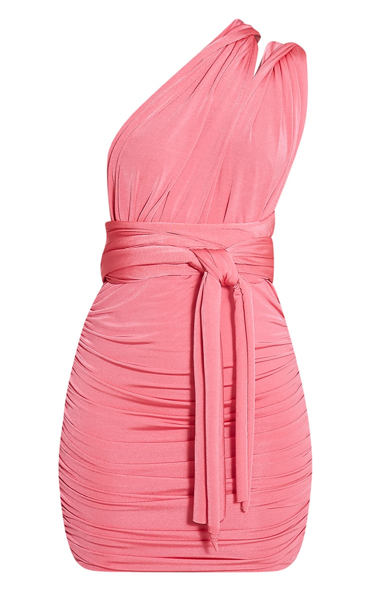 Katherine Hot Pink Multiway Mini Dress 3