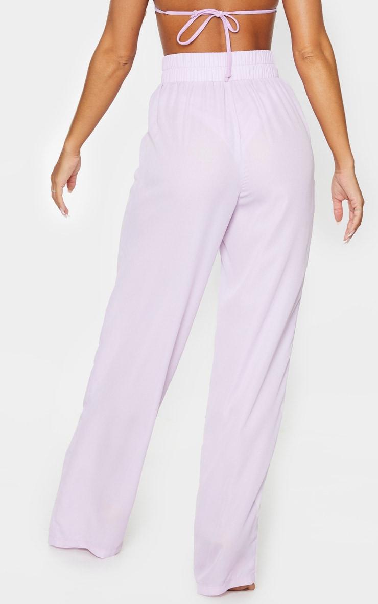 Lilac Wide Leg Beach Trouser 3