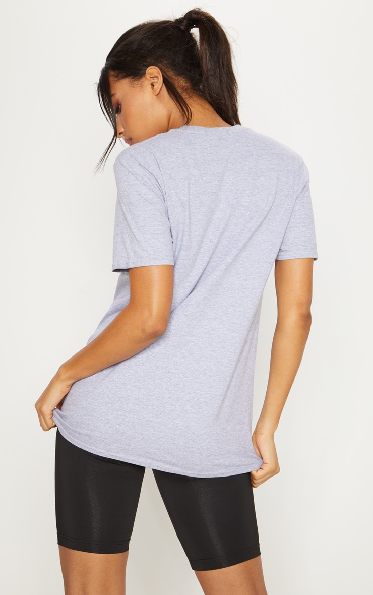 Grey Cotton In My Zone T Shirt 3