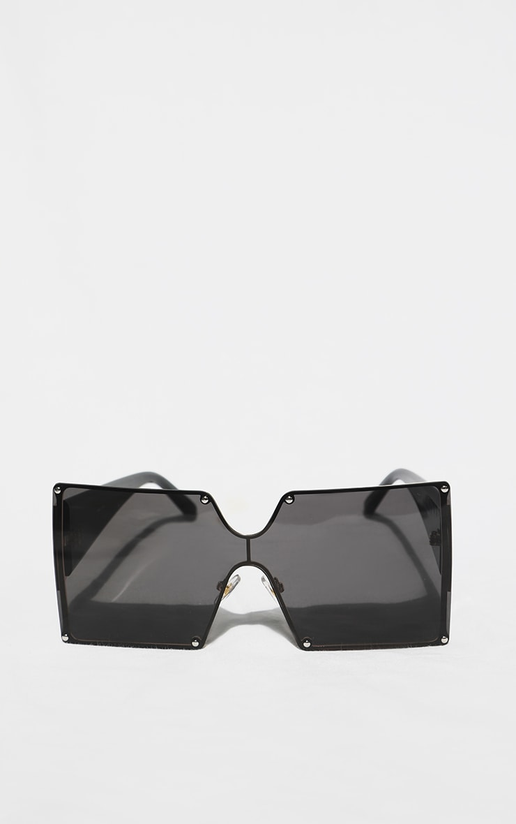 Black Square Lens Oversized Sunglasses 1