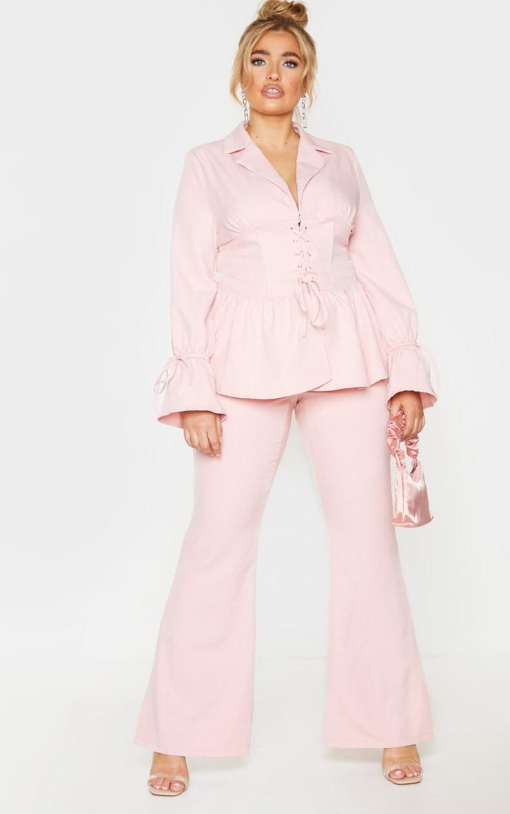 Plus Blush Corset Waist Blazer 3