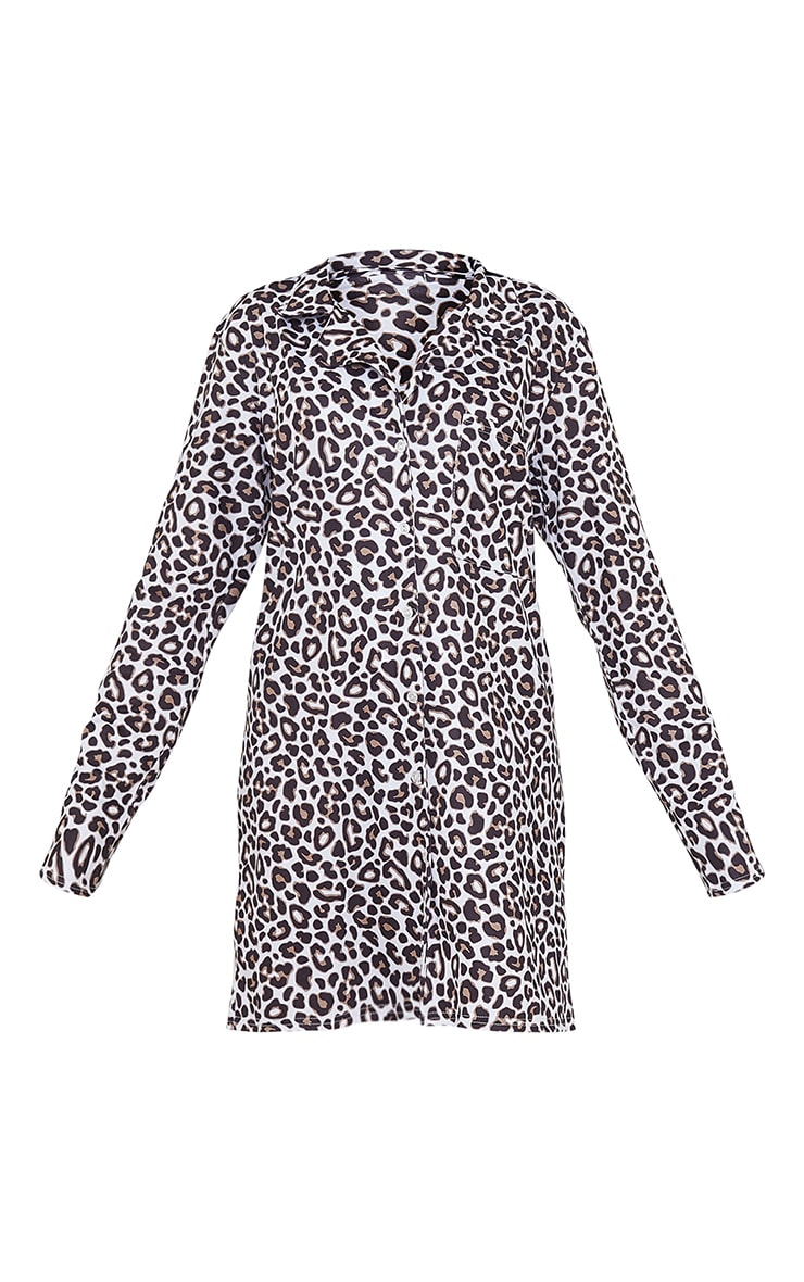 Brown Leopard Print Mix And Match Jersey Nightshirt 5