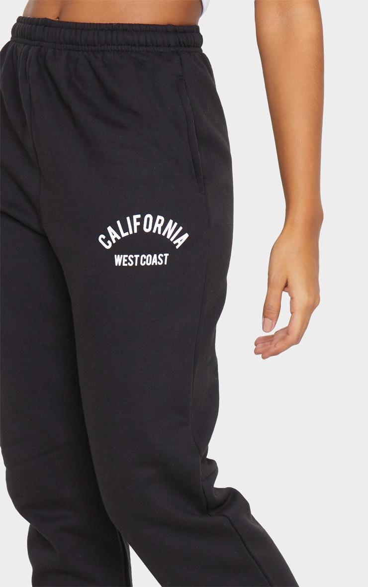 Jogging casual noir à slogan California 4