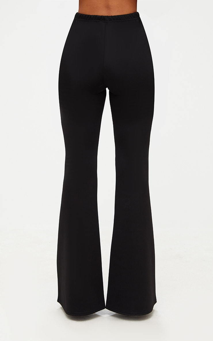 Black High Waist Extreme Flare Long Leg Trousers 4
