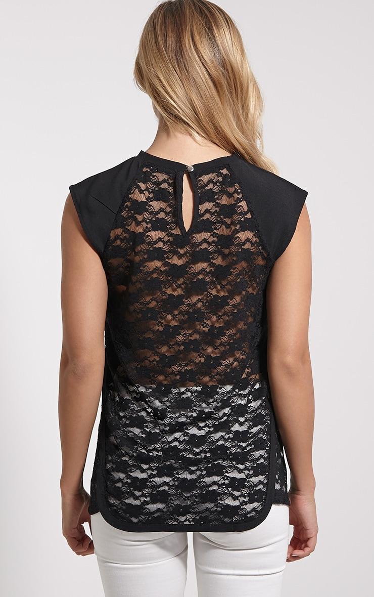 Zita Black Lace Top 2