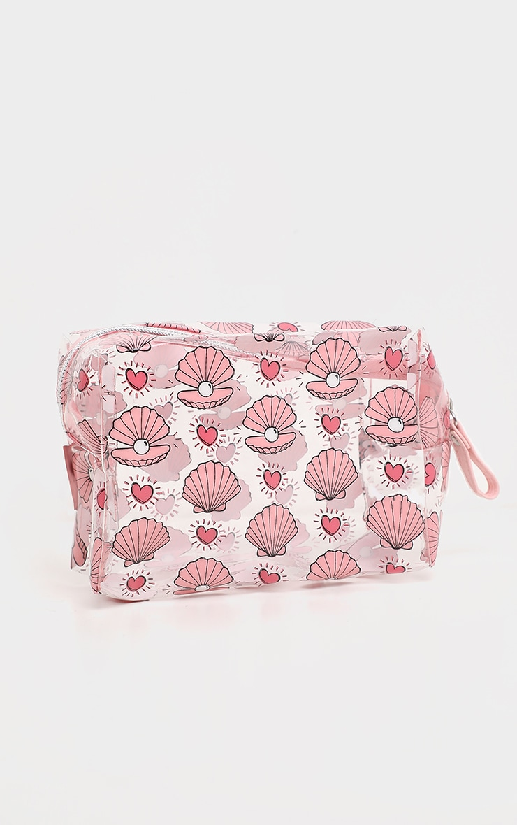 Shellshells And Pearls Clear Makeup Bag 2