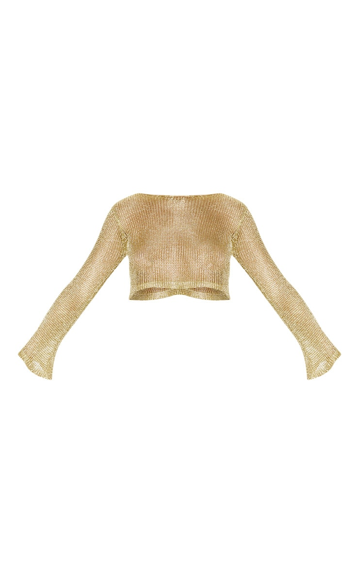 Gold Knit Beach Top 3