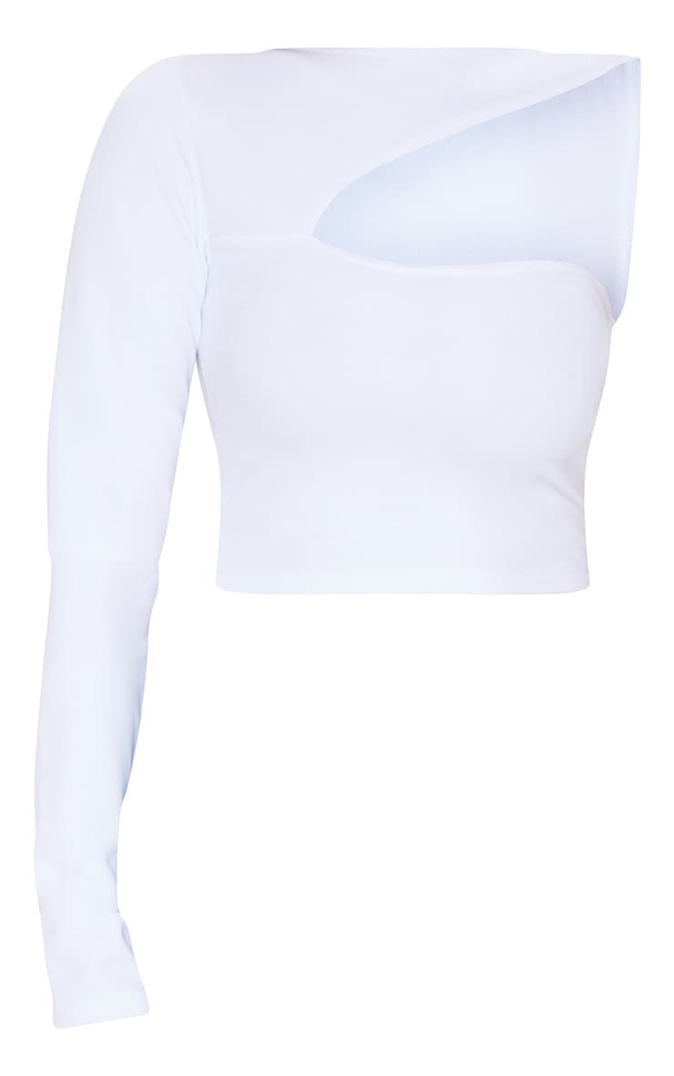 White One Shoulder Cut Out Top 3