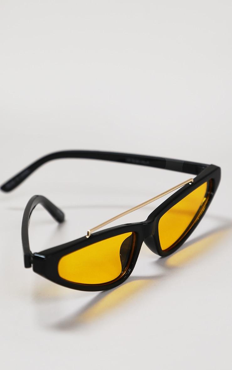 Black Cat Eye Yellow Lens Sunglasses 4