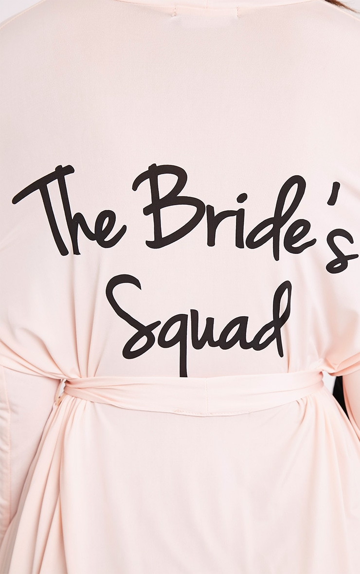 Peignoir chair près du corps à slogan The Bride's Squad 6