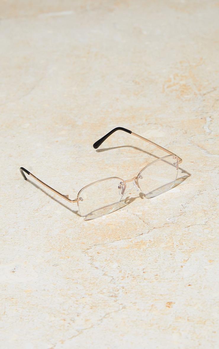 PRETTYLITTLETHING Clear Cat Eye Blue Light Glasses 3