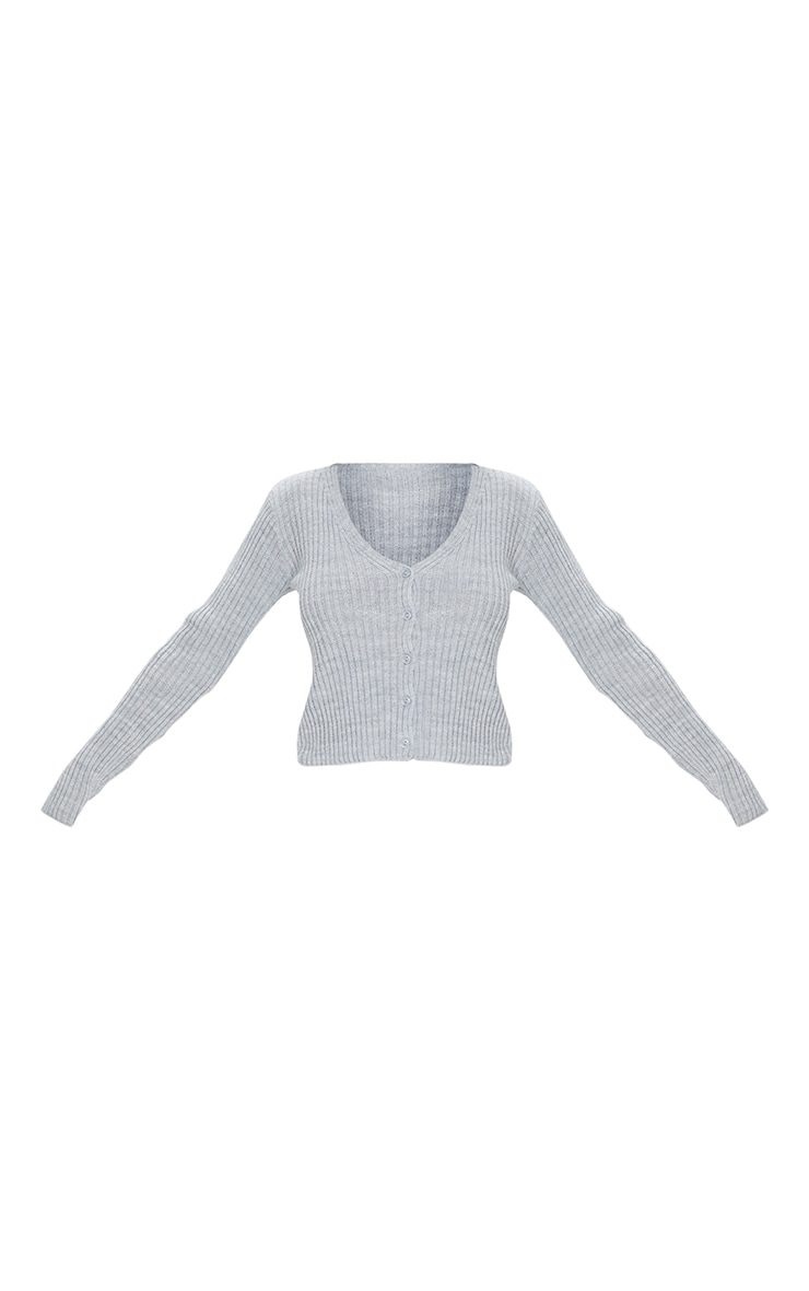 Light Grey Button Front Cardigan 5