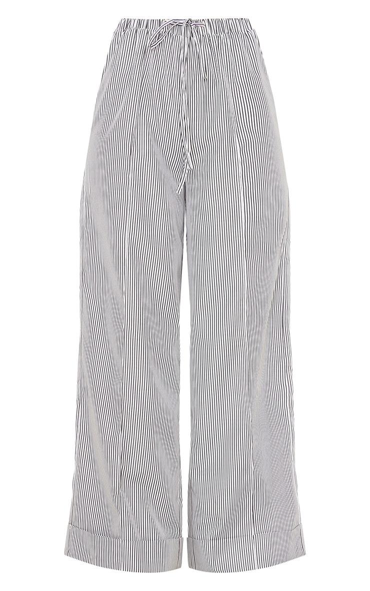 Cayley Black Pinstripe Wide Leg Trousers 3