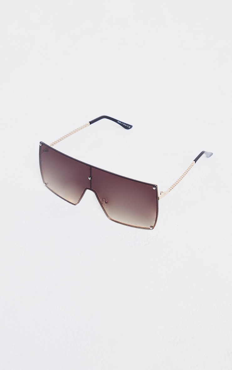 Brown Ombre Oversized Square Frame Sunglasses 2
