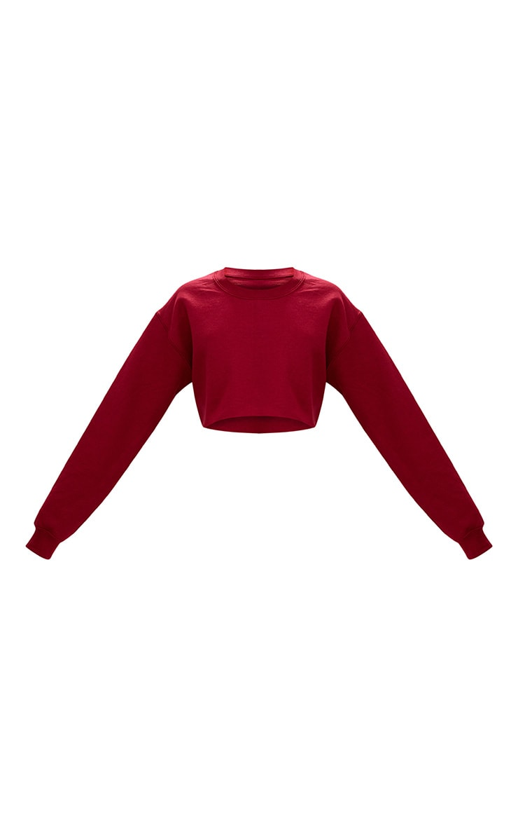 Maroon Ultimate Cropped Sweatshirt 3