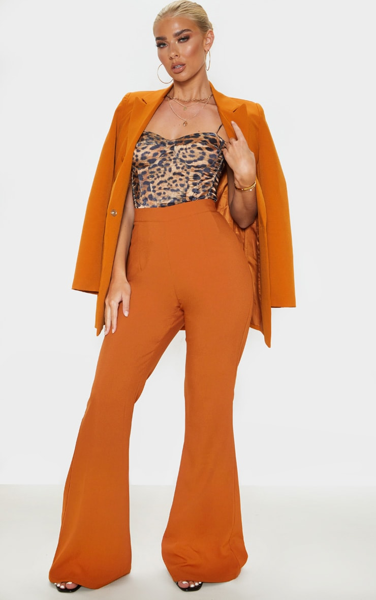 Chestnut Flare Tailored Pants 1