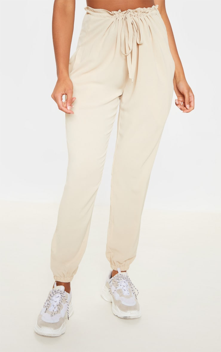 Cream Drawstring Waist Cuffed Trouser 2