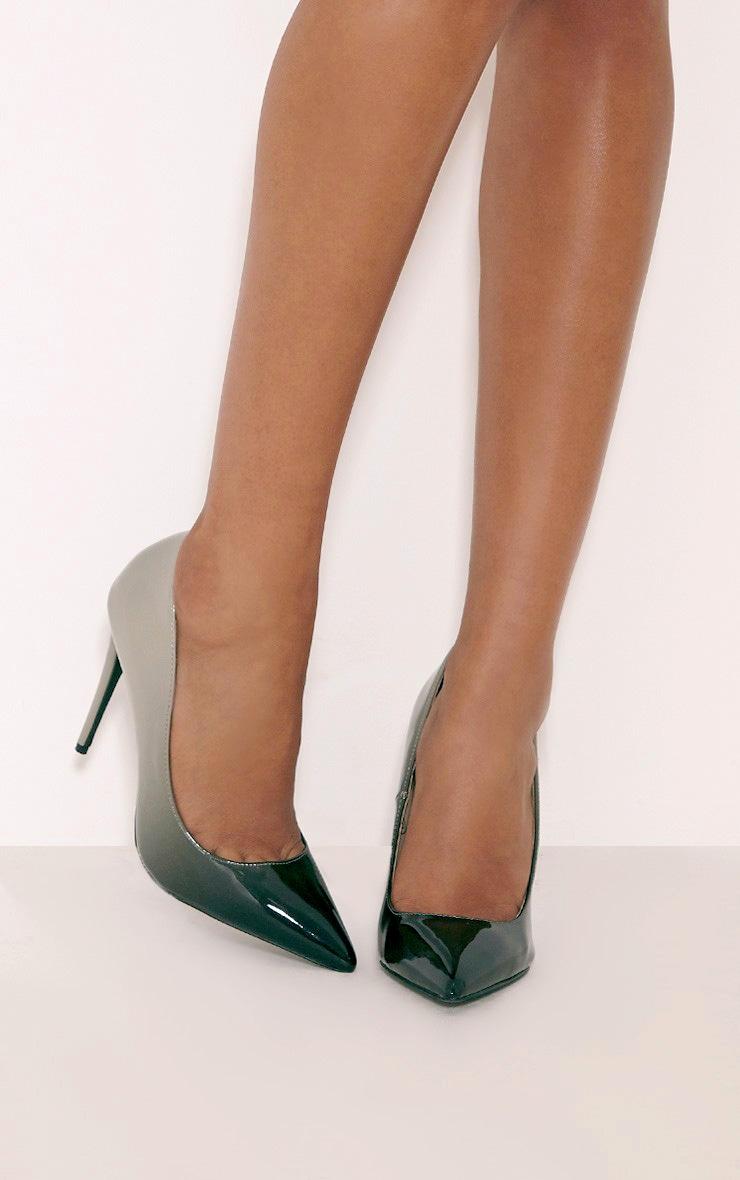 Noella Black Patent Ombre Court Shoes 1