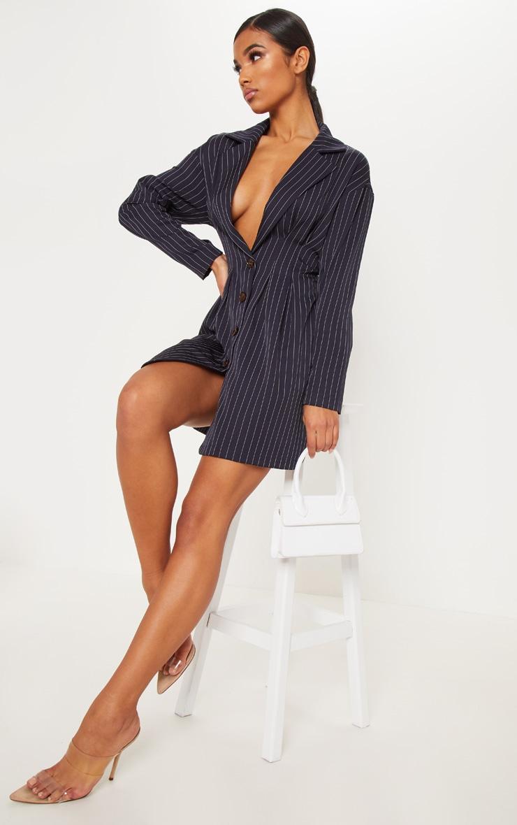 marvellous navy pinstripe blazer outfit 11