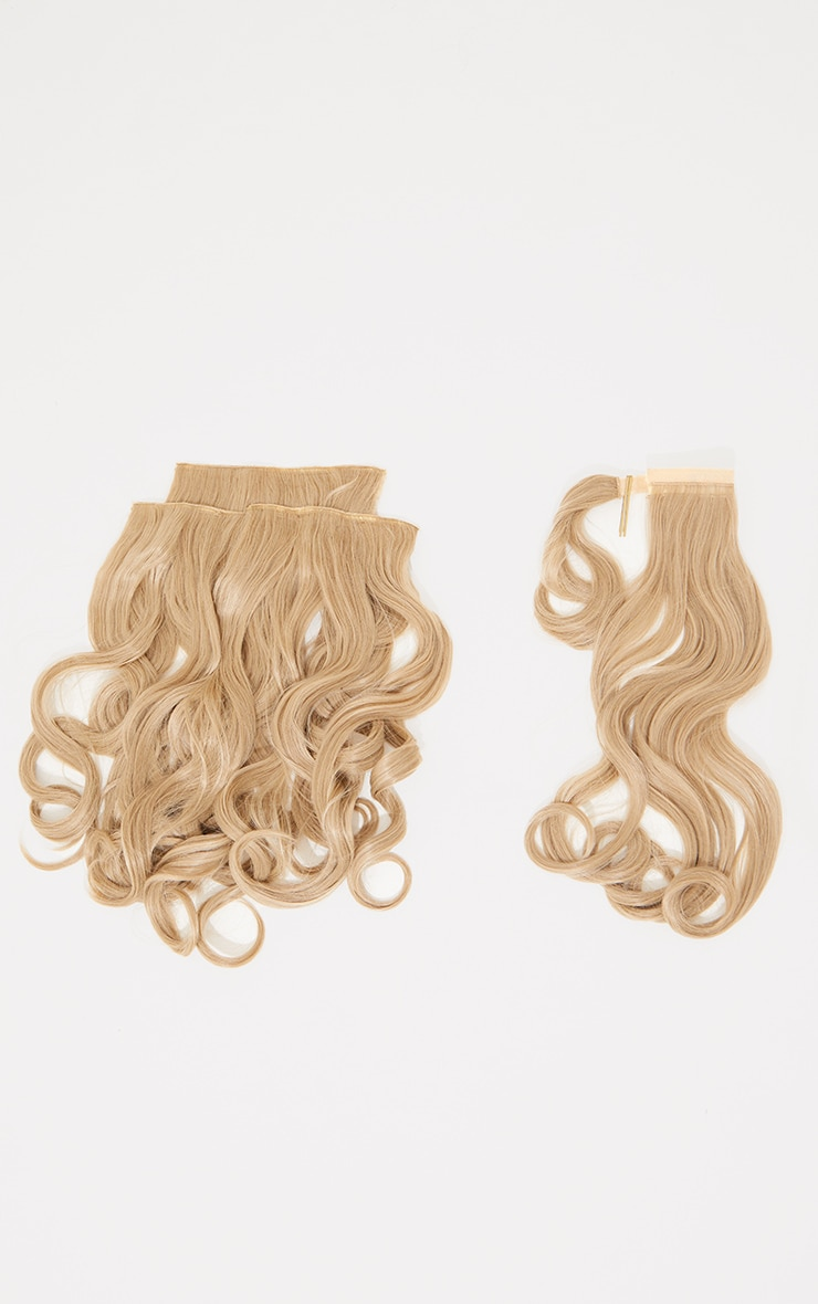 Lullabellz Ultimate Half Up Half Down 22 Curly Extension and Pony Set Light Golden Blonde 5