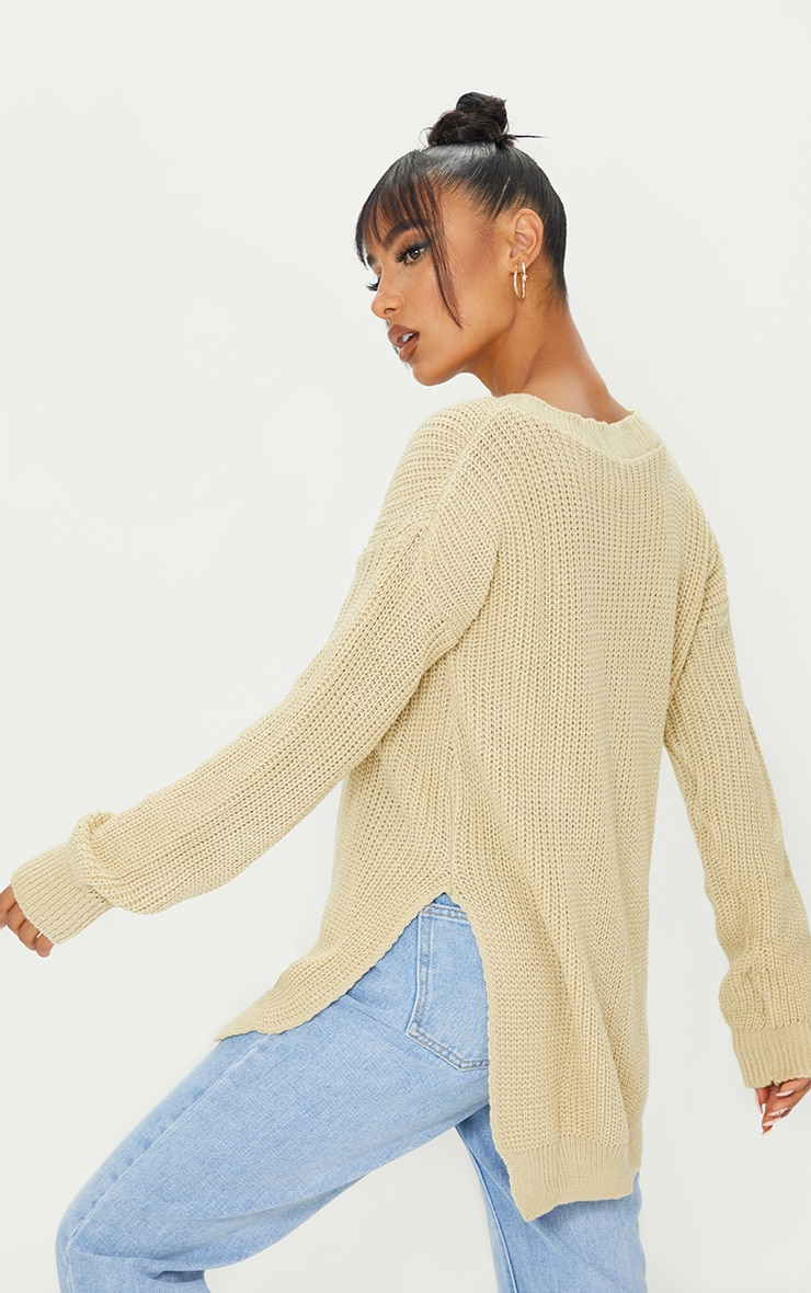 Rexx Stone Round Neck Side Split Jumper 2