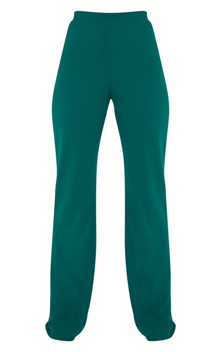 Emerald Crepe High Waisted Wide Leg Trouser 3