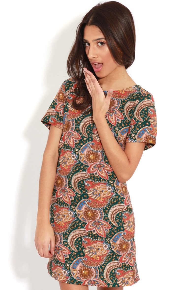 Nila Green Paisley Shift Dress 1