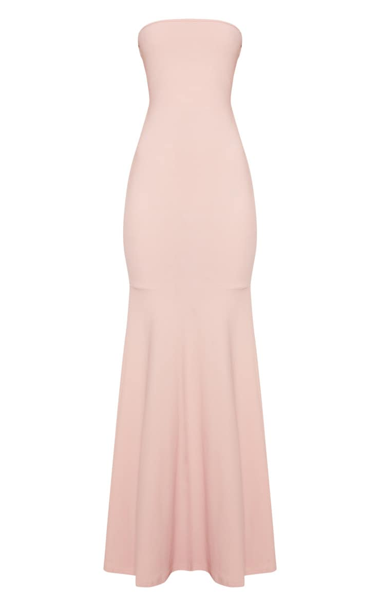 Dusty Pink Strappy Detail Maxi Dress 3