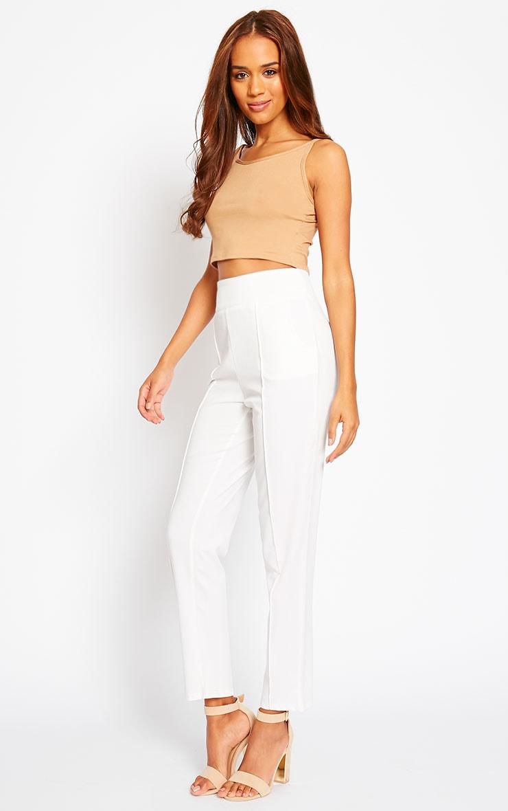 Wendy Cream Front Seam Pants 5