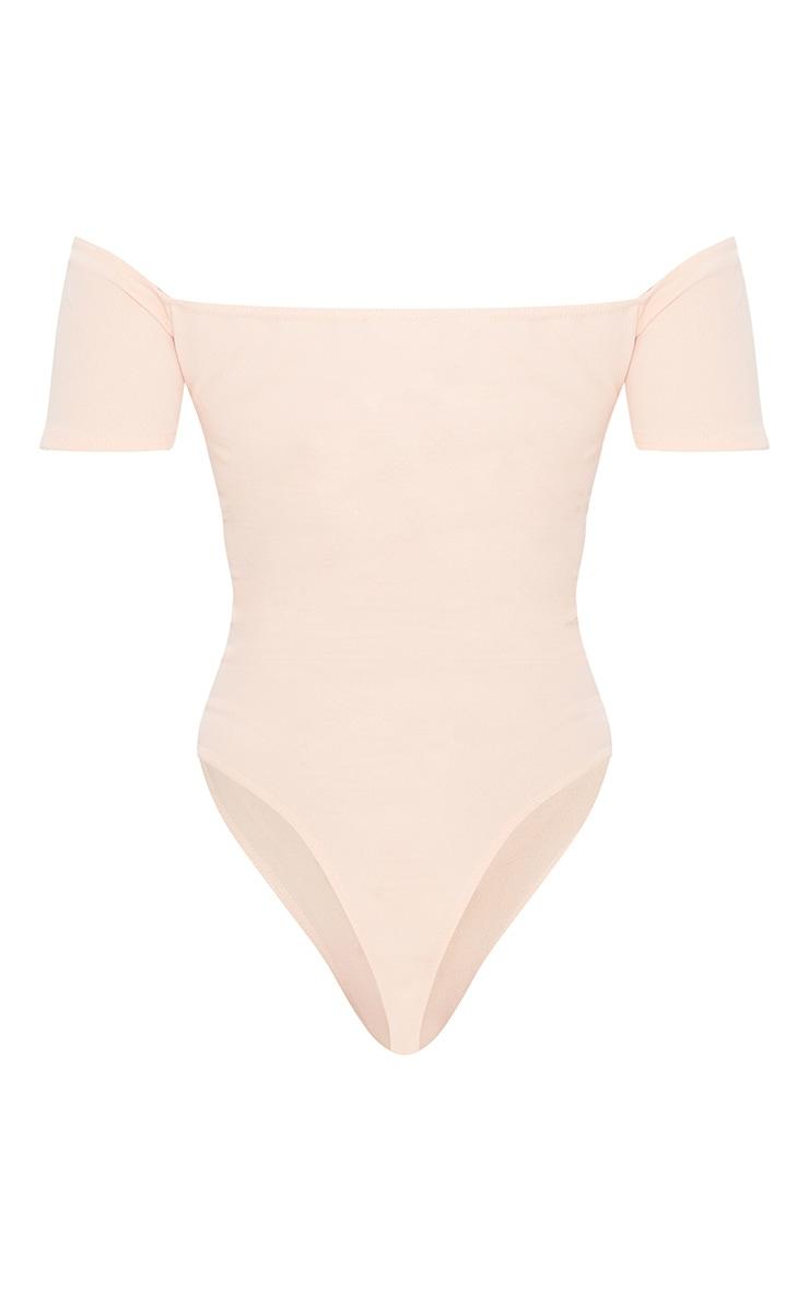 Blush Crepe Bardot Wrap Bodysuit 4