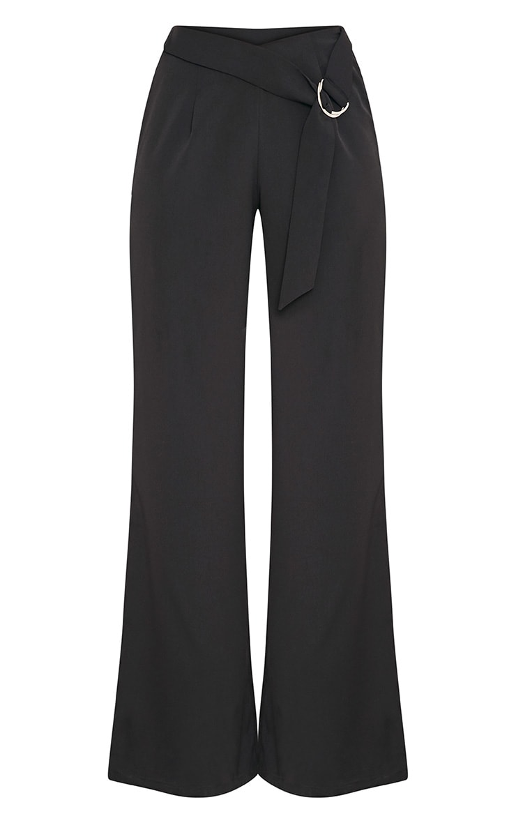 Kenna Black Belted D Ring Trousers 3