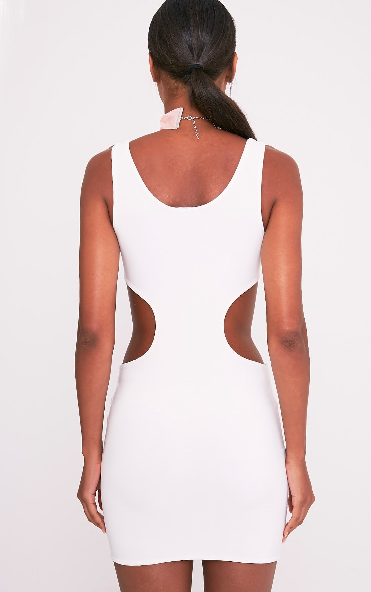 Kammy Cream Extreme Cut Out Bodycon Dress 3