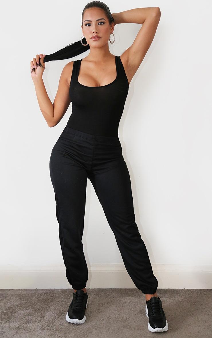 Shape Black Jersey Scoop Neck Basic Bodysuit 3