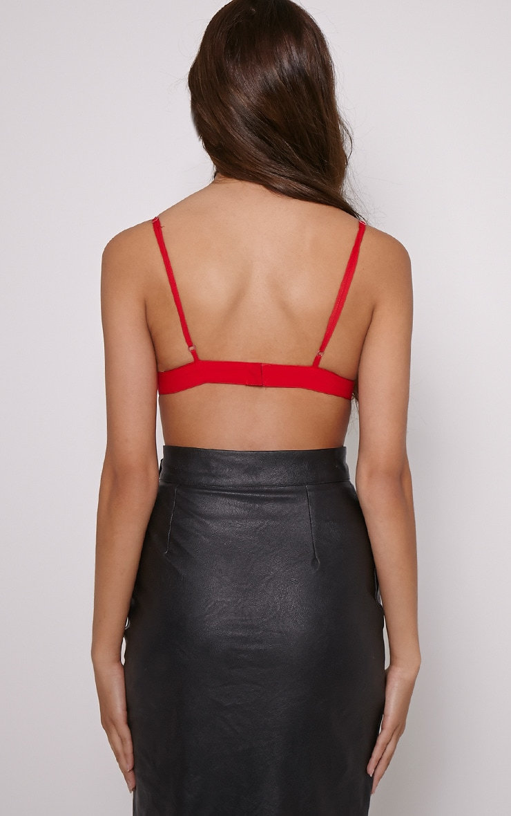 Cali Red Applique Bralet 2