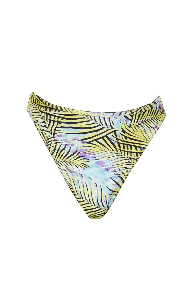 Tall Palm Printed High Leg Bikini Bottoms 5