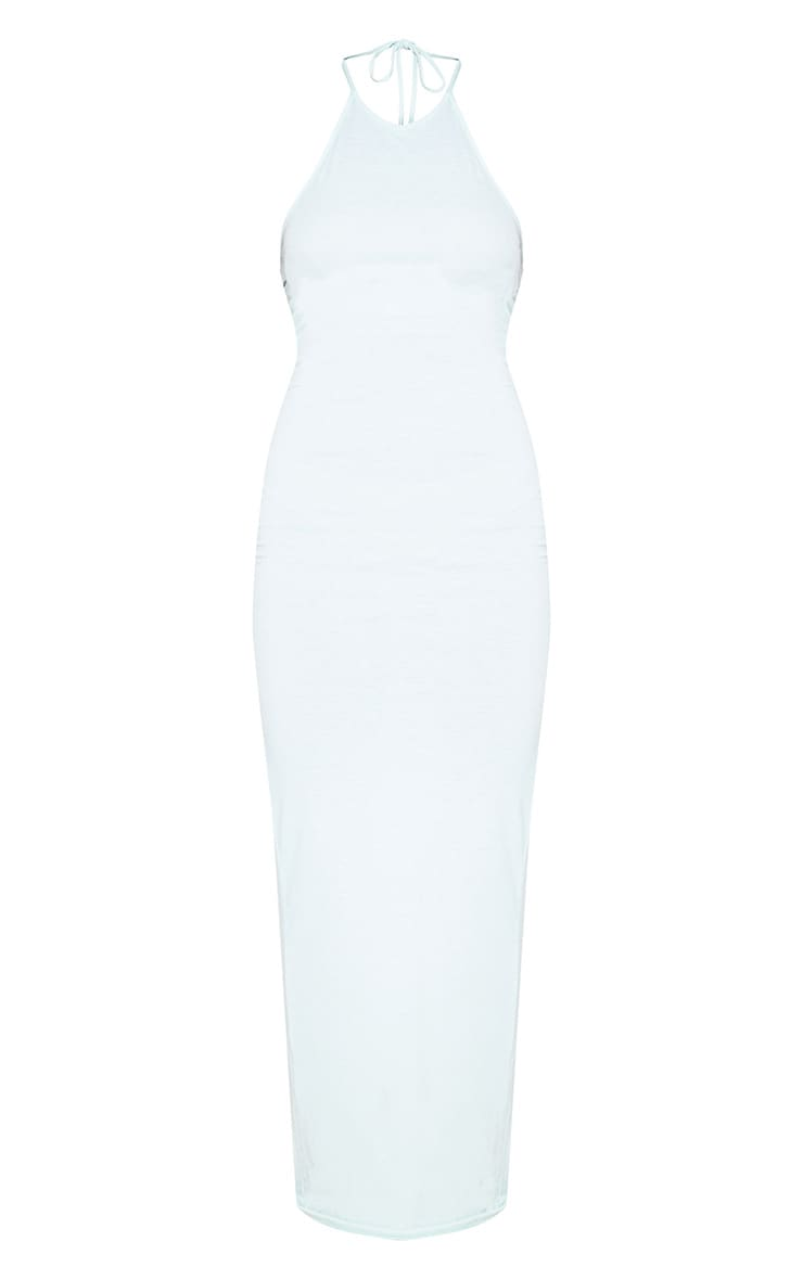 Basic Mint Halterneck Maxi Dress 3